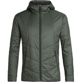 Icebreaker Helix Hooded Jacket Men forestwood/black